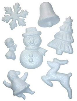 Polystyrene Christmas Shapes - Assorted - Pack of 35