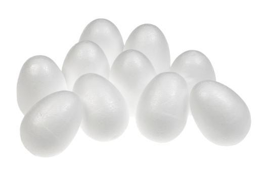 Polystyrene Eggs - 7.5cm - Pack of 10