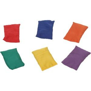 Bean Bags - Assorted - 15 x 10cm - Pack of 6