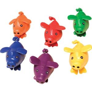 PLAYMATE Bean Bag Pigs - Assorted - Pack of 6