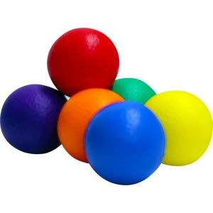 Coated Foam Balls - Assorted - 7cm - Pack of 6