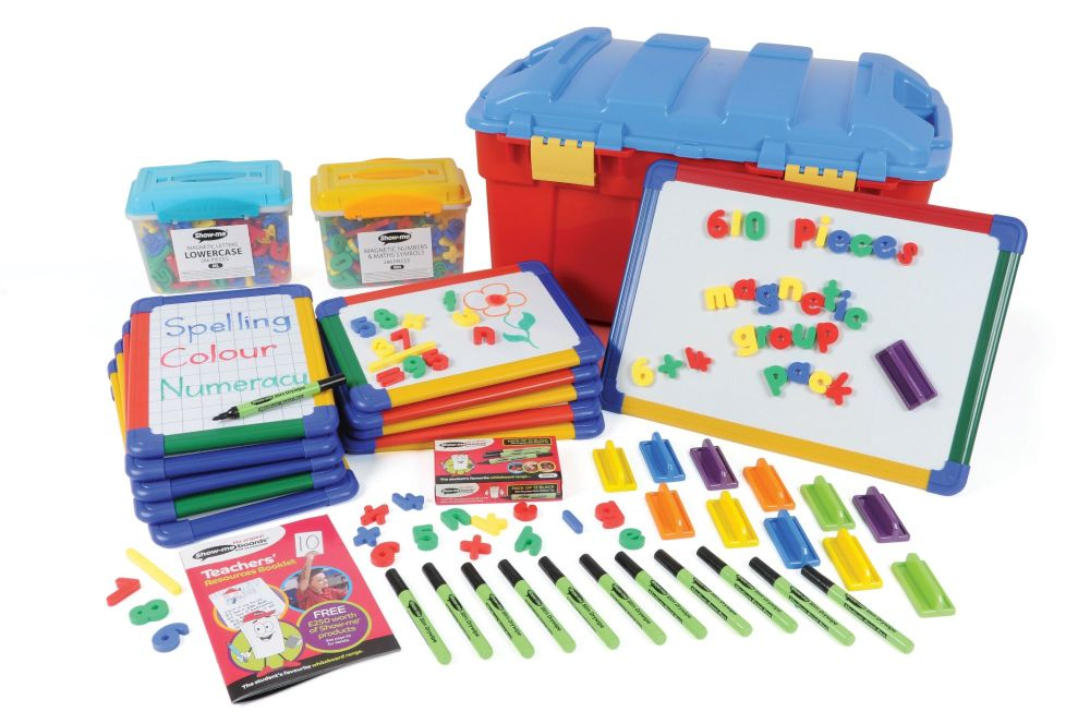 Show-Me Multi Curricular Magnetic Group Pack - Boards + Accessories - Trunk