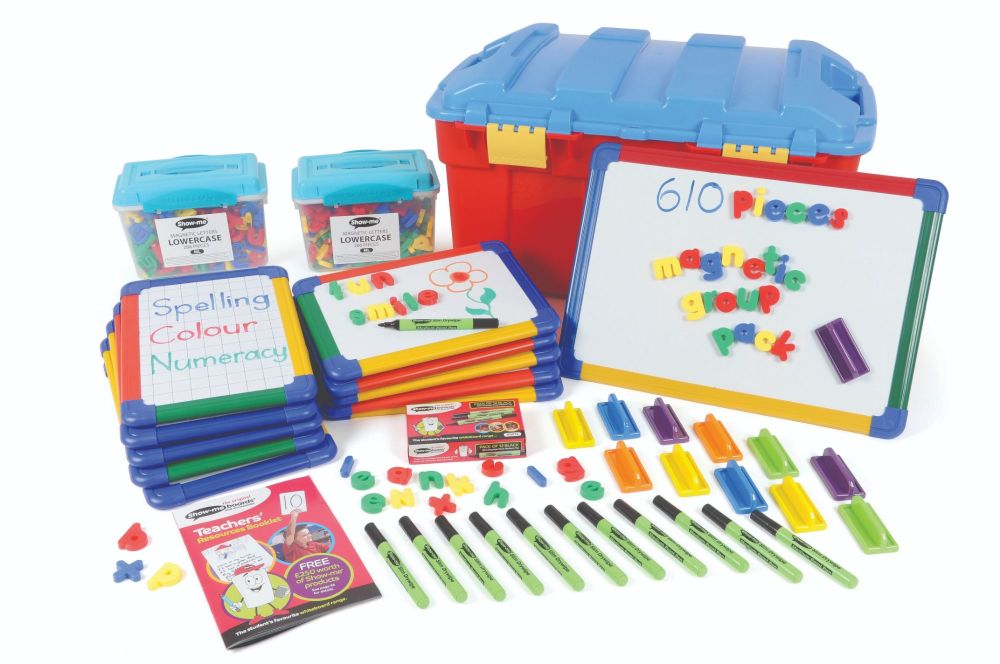 Show-Me Magnetic Literacy Group Pack - Boards + Accessories - Trunk Pack of