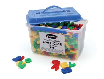 Show-Me Magnetic Lowercase Letters - Assorted - 3.5cm - Tub of 286