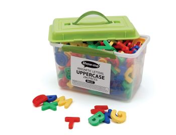 Show-Me Magnetic Uppercase Letters - Assorted - 3.5cm - Tub of 286
