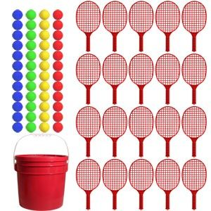 First Play Mini Racket Pack - Assorted - Tub of 68