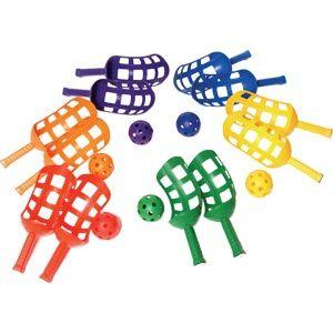 Playmate Scoop Racket - Assorted - Pack of 6