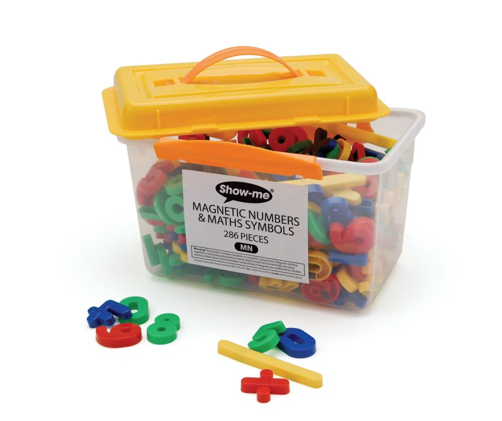 Show-Me Magnetic Numbers & Maths Symbols- Assorted - 3.5cm - Tub of 286