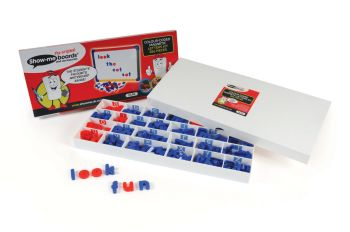 Show-Me Colour Coded Magnetic Letters Set- Assorted - 2.5 - 3.8cm - Tub of 286