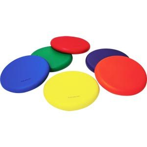 Playmate Foam Flying Disc - Assorted - Pack of 6 Pack - 21cm
