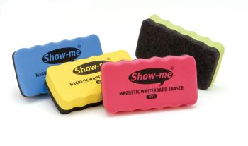 Show-Me Magnetic Teachers Erasers - Assorted - Pack of 4