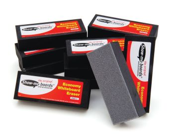 Show-Me Economy Whiteboard Erasers - 125 x 50 x 30mm - Pack of 12