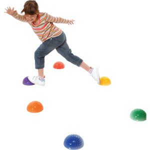 Playmate Sensory Stepping Dome - Assorted - Pack of 6