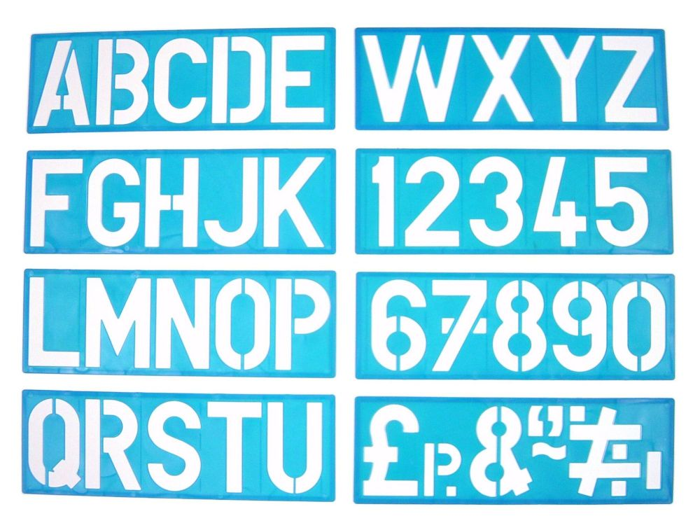 Upper Case Signwriting Kit - 10cm - Pack of 8 Stencils