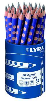 Lyra Groove Chunky Triangular B Grade Graphite Pencil - Tub of 36