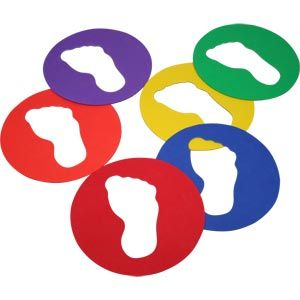 Playmate Feet Spots - Assorted - Pack of 6 - 25.5cm