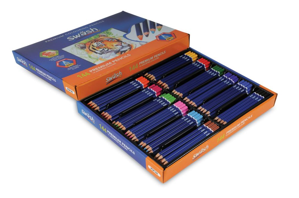 Swash Colouring Pencils - 12 Assorted Colours - Pack of 144