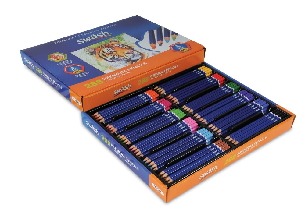Swash Colouring Pencils - 12 Assorted Colours - Pack of 288