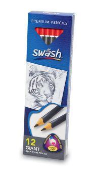 Swash KOMFIGRIP Giant HB Graphite Triangular Pencils - Pack of 12