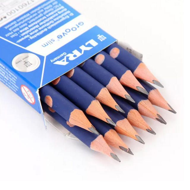 Lyra Groove Slim Triangular Graphite Pencil - Pack of 12
