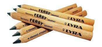 Lyra Ferby Graphite B Grade Half Length Pencils - Pack of 12