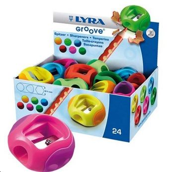 Lyra Groove Single Hole 11mm Pencil Sharpeners - Assorted - Pack of 24
