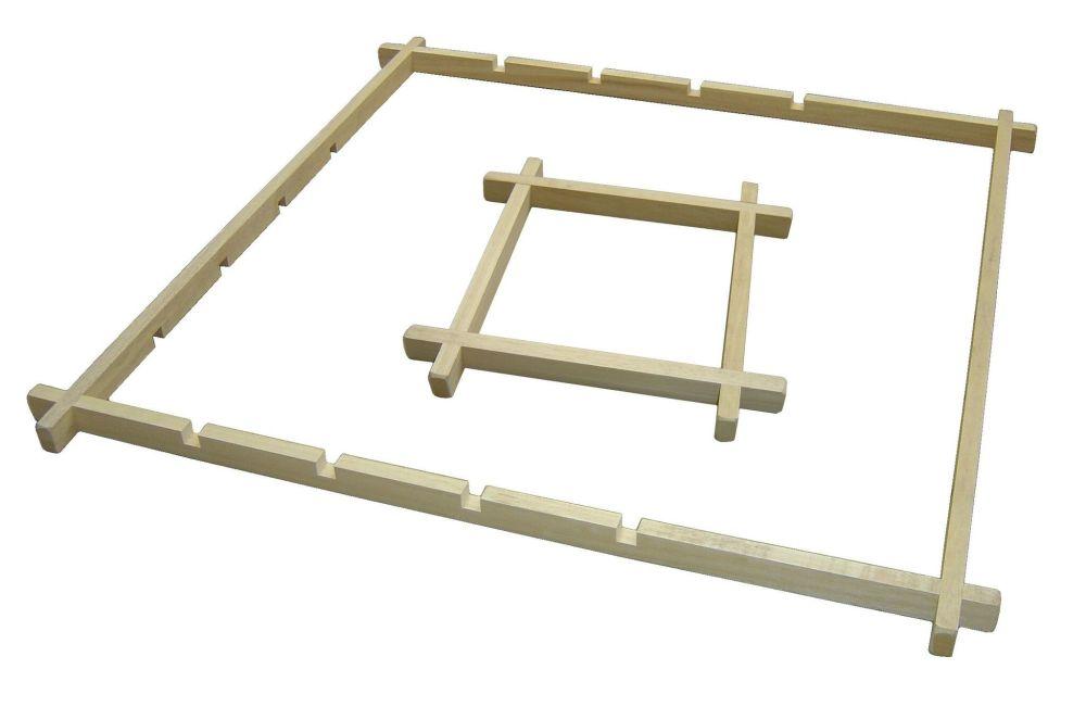 Wooden Batik Frame - 90 x 90cm - Each