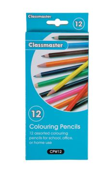 Classmaster Colouring Pencils - Assorted - Pack of 12