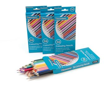 Classmaster Colouring Pencils - Assorted - Pack of 36