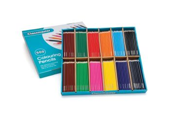 Classmaster Colouring Pencils - Assorted - Pack of 500