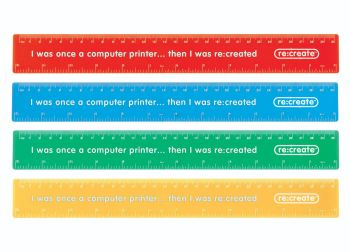 Coloured Rulers 30cm - Assorted - Metric/Imperial - Pack of 100
