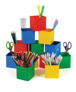 Classmaster Desk Pots - Assorted - Pack of 12