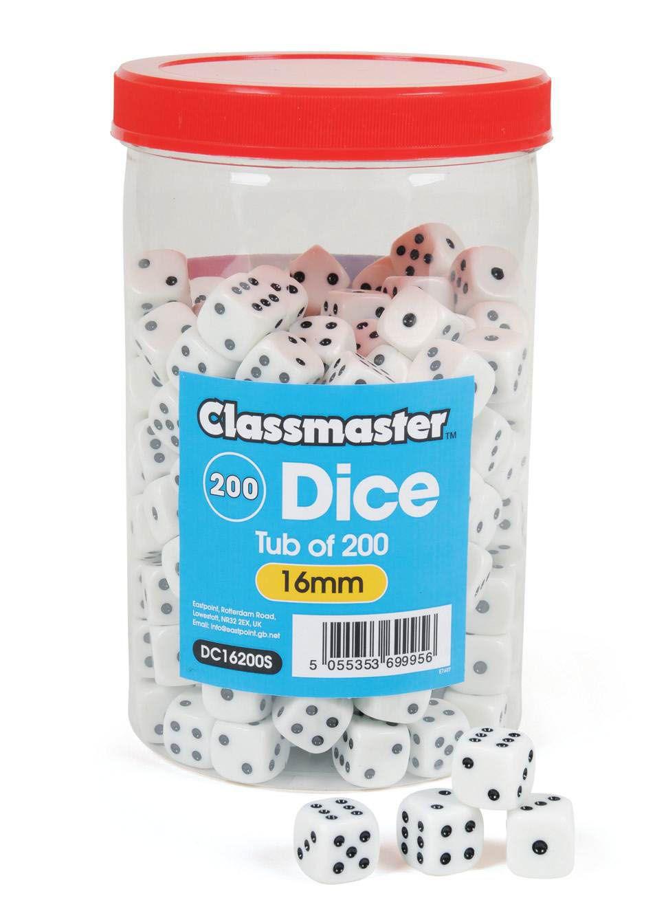 Classmaster Dice 16mm - Tub of 200