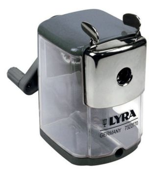 Lyra Desktop Metal Pencil Sharpener - 7-12mm - Each