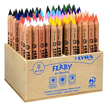 Lyra Ferby Natural Chunky Triangular Colouring Pencils - Assorted - Class P