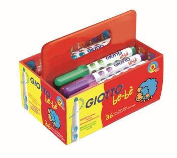 Giotto Be-be' Super Fibre Tipped Colouring Pens - Assorted - School Pack of 36