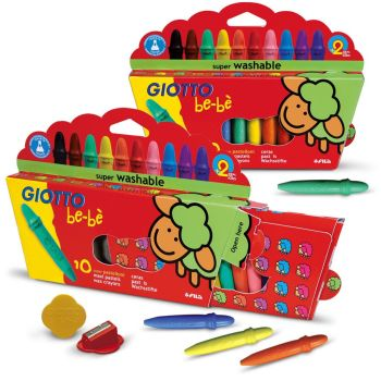 Giotto Be-be Super Wax Crayons - Assorted - Pack of 10