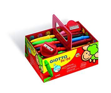 Giotto Be-be Super Wax Crayons - Assorted - School Pack of 40
