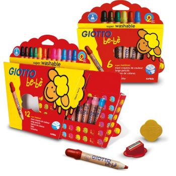 Giotto Be-be Super Large Pencils - Assorted - Pack of 12