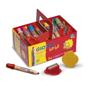 Giotto Be-be Super Large Pencils - Assorted - School Pack of 36