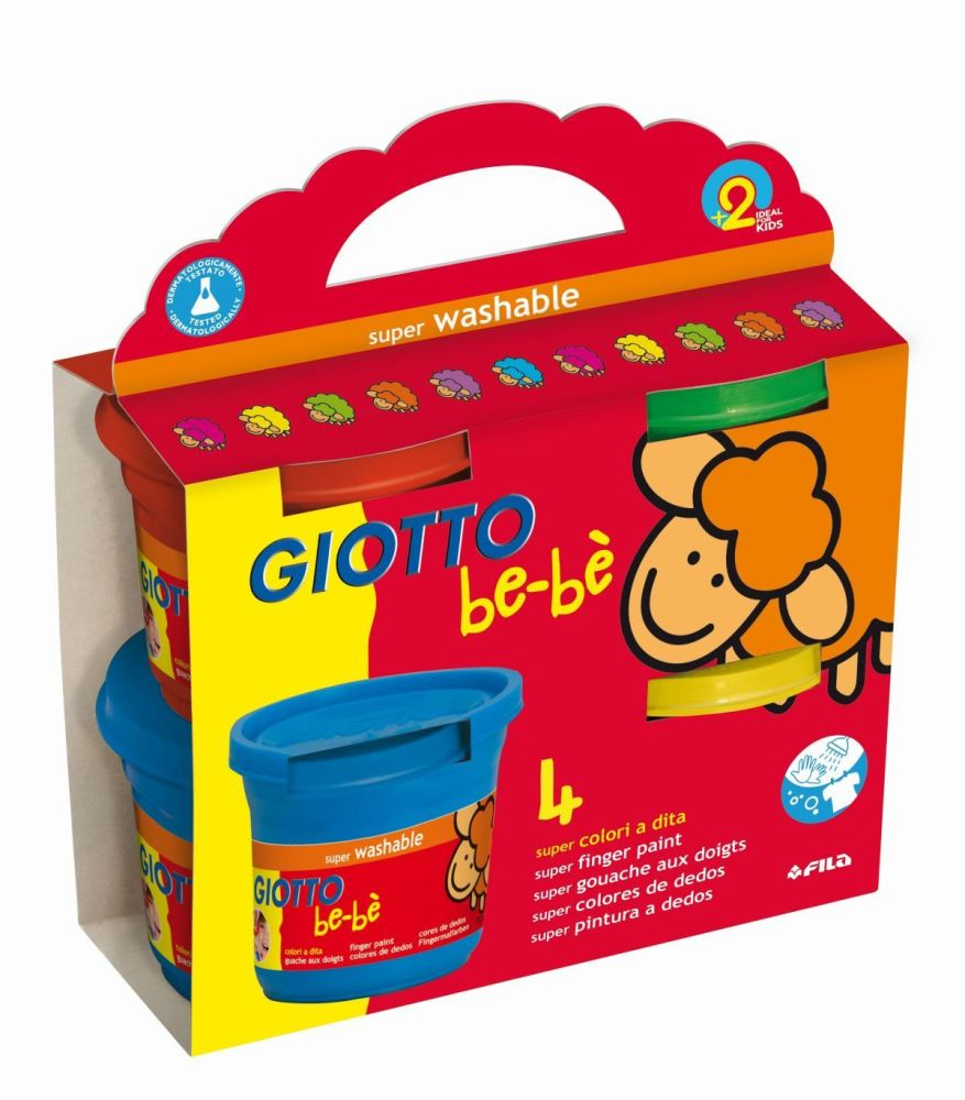 Giotto Be-be Super Finger Paints - Assorted - 150ml - Pack of 4