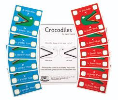 Sweet Counter - More Than / Less Crocodiles - Per Set