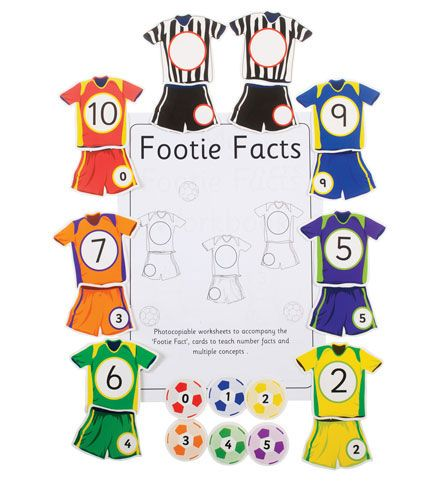Sweet Counter - Footie Facts To 10 - Per Set