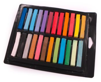 Soft Square Chalk Pastels - Assorted - Pack of 24