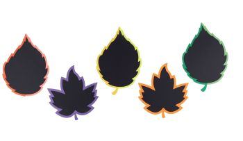 Leaf Chalkboards - Assorted - 65 x 65cm - Pack of 5