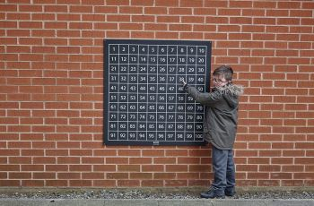 Outdoor/Indoor Chalkboard 1-100 Number Square - 1 x 1m - Each
