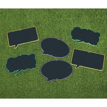 Chalkboard Speech Bubbles - Assorted - 33 x 23 x 3cm - Pack of 6