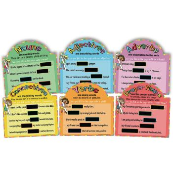 Outdoor Literacy Chalkboards - Assorted - Pack of 6