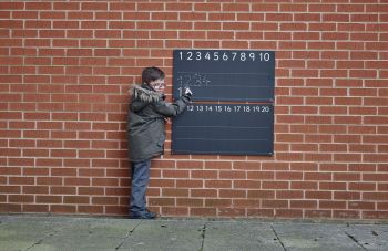 Outdoor/Indoor Lined Number Chalkboard - 83 x 43cm - Each