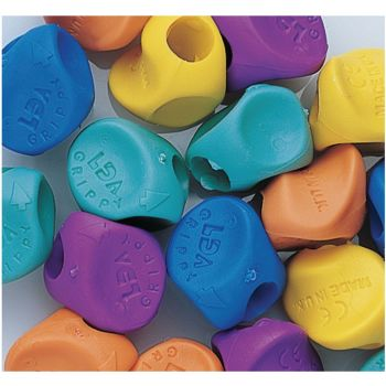 Grippies Standard Size Pencil Grips - Assorted - Pack of 10